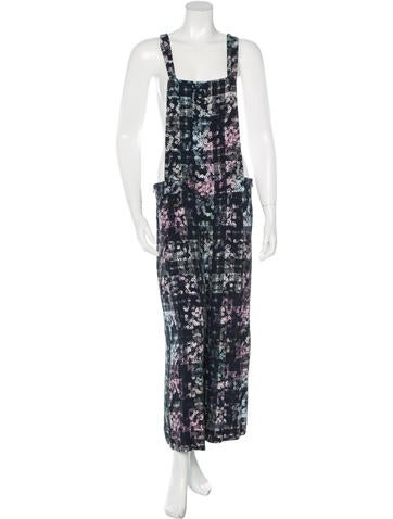 Tibi Floral Cropped Jumpsuit w/ Tags None
