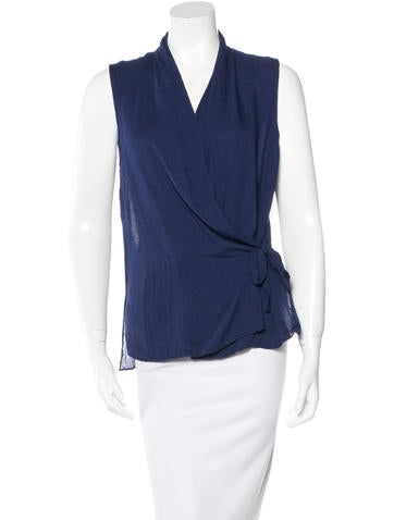 Tibi Sleeveless Wrap Top