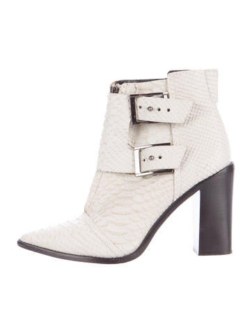 Embossed Ankle Boots