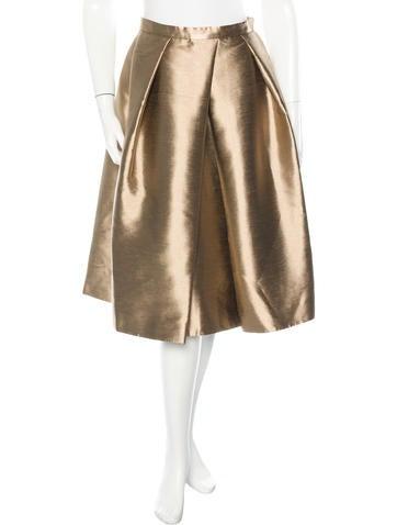 tibi metallic a line skirt w tags clothing wti31963