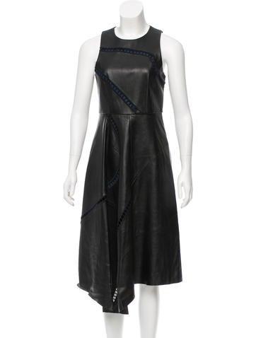 Tibi Sleeveless Leather Dress w/ Tags None