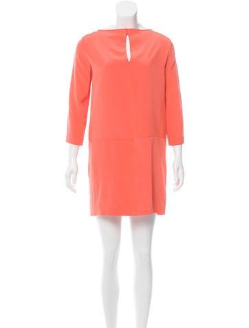 Tibi Silk Long Sleeve Dress None