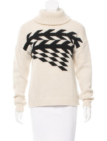 Tibi Patterned Wool Sweater