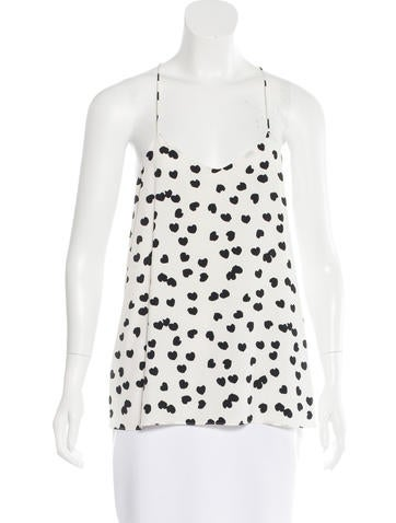 Tibi Silk Sleeveless Top