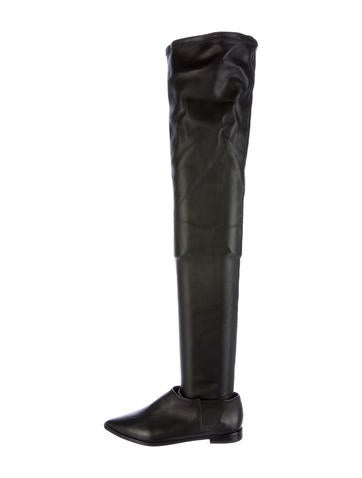 Tibi Thea Leather Over-The-Knee Boots w/ Tags
