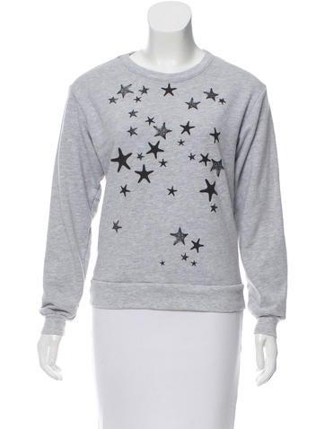 Tibi Star Print Sweatshirt None