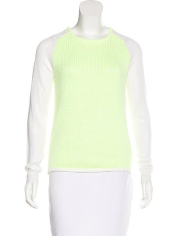 Tibi Rib Knit Colorblock Sweater None