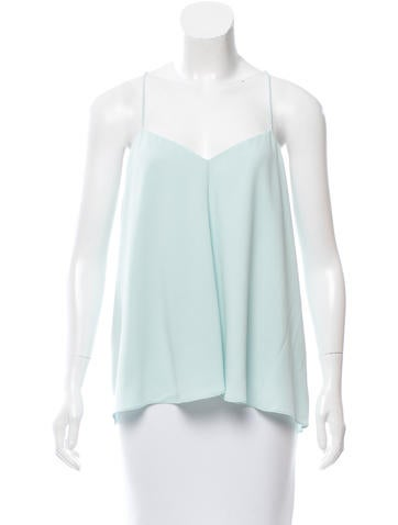 Tibi Sleeveless V-Neck Top w/ Tags None