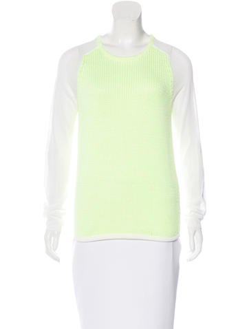Tibi Knit Paneled Sweater None