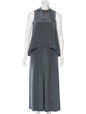 Tibi Cropped Silk Jumpsuit w/ Tags None