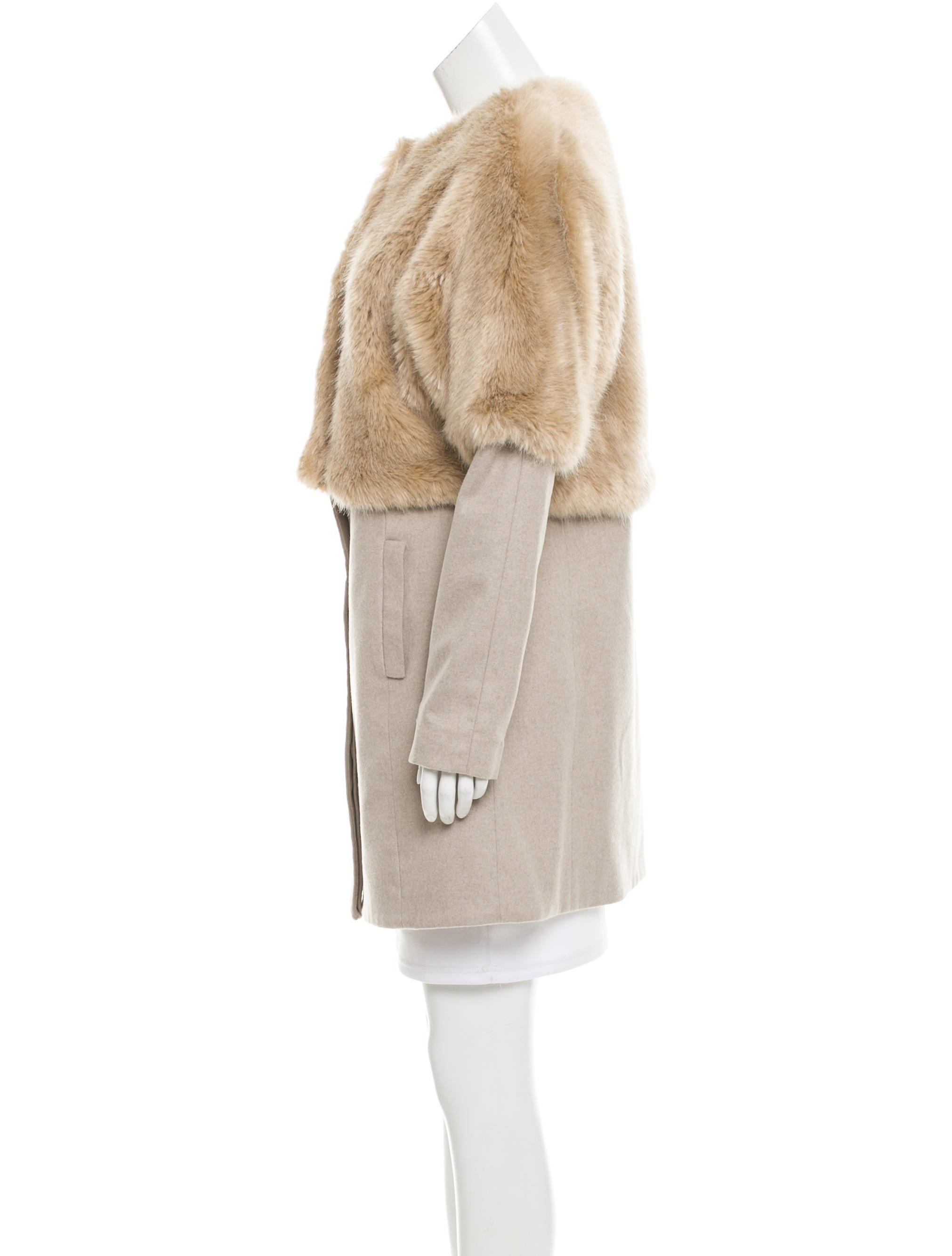 tibi faux fur convertible coat w tags clothing wti34459 the realreal. Black Bedroom Furniture Sets. Home Design Ideas