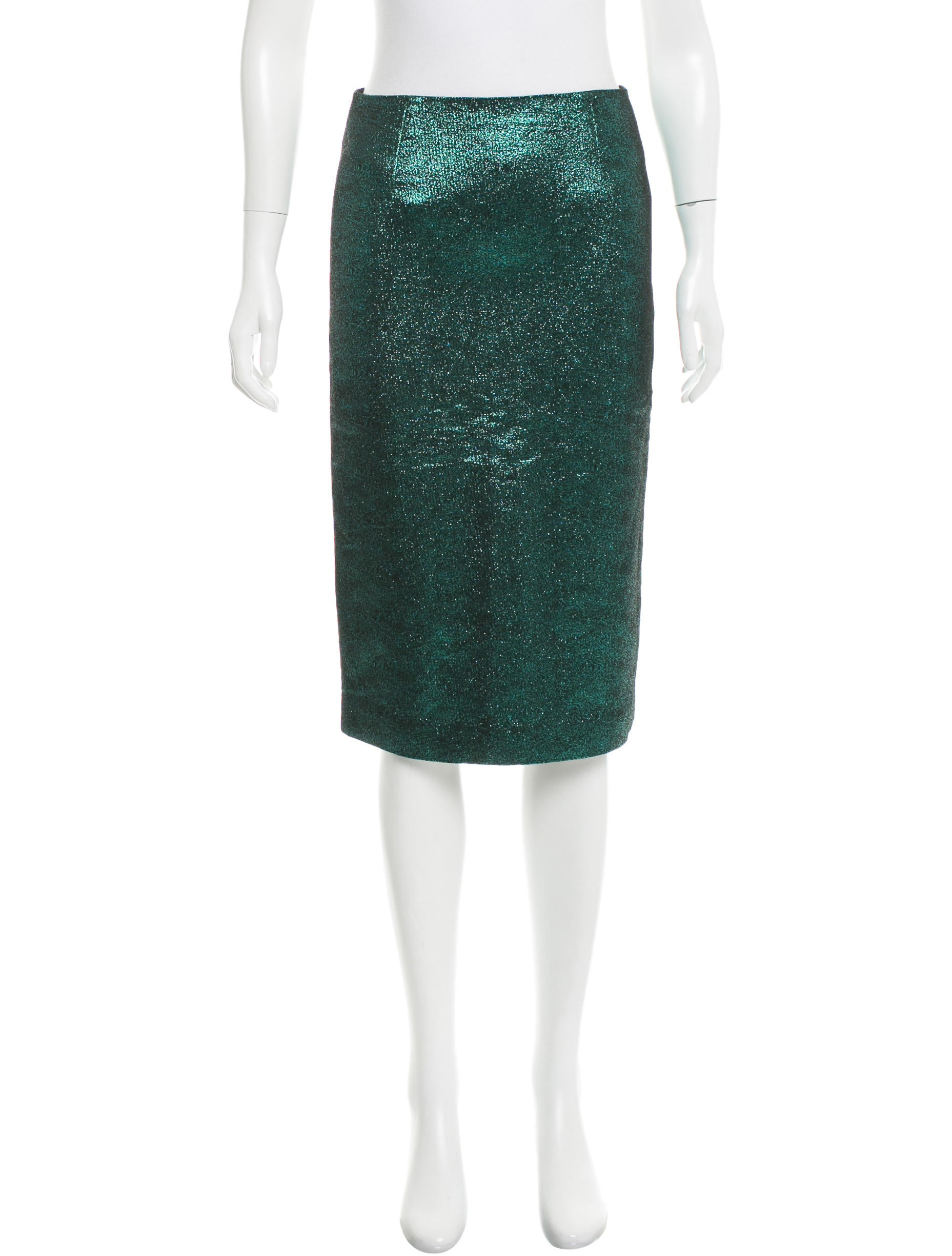 tibi metallic pencil skirt clothing wti34616 the