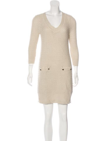 Tibi Knit Mini Dress None