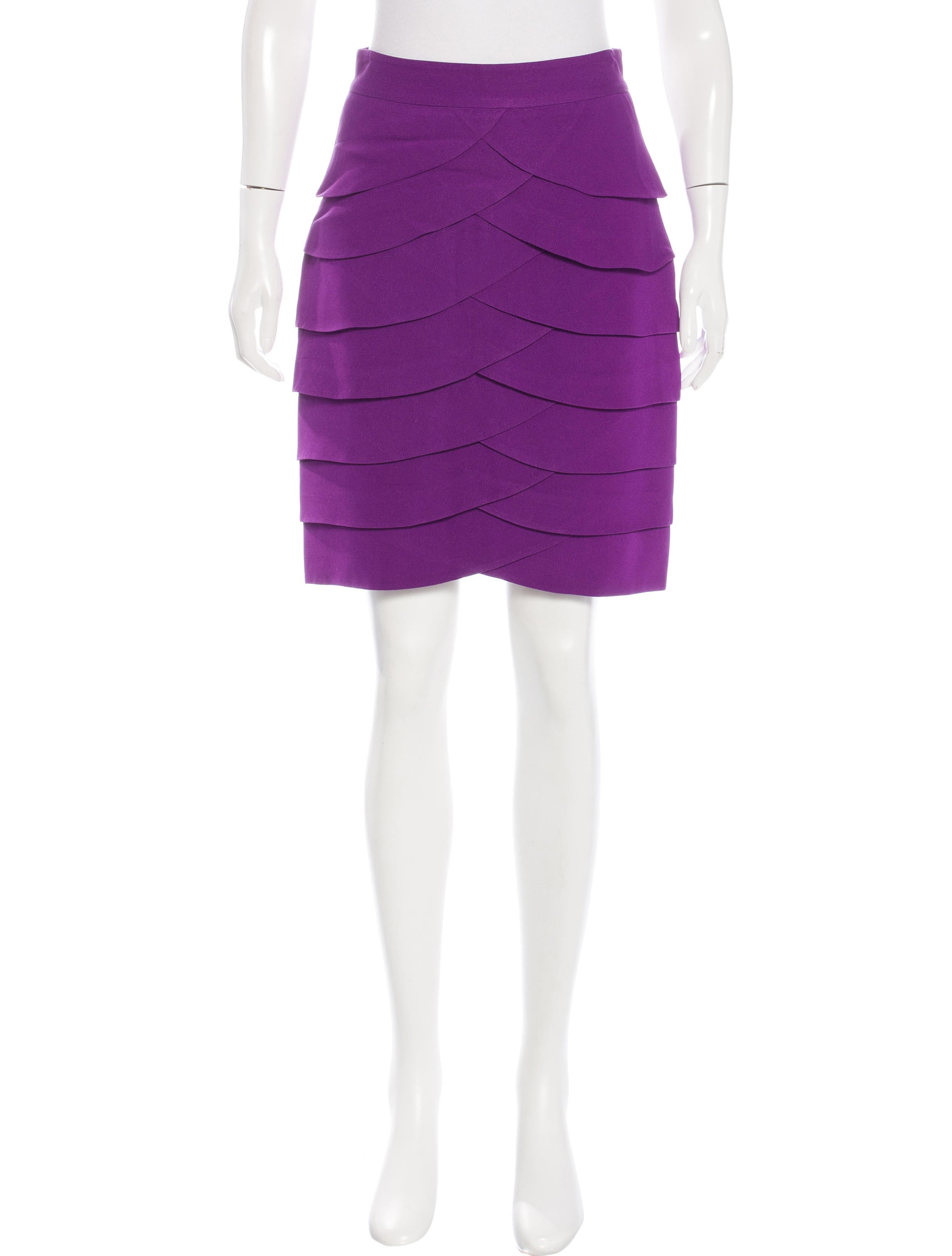 tibi tiered pencil skirt clothing wti35253 the realreal