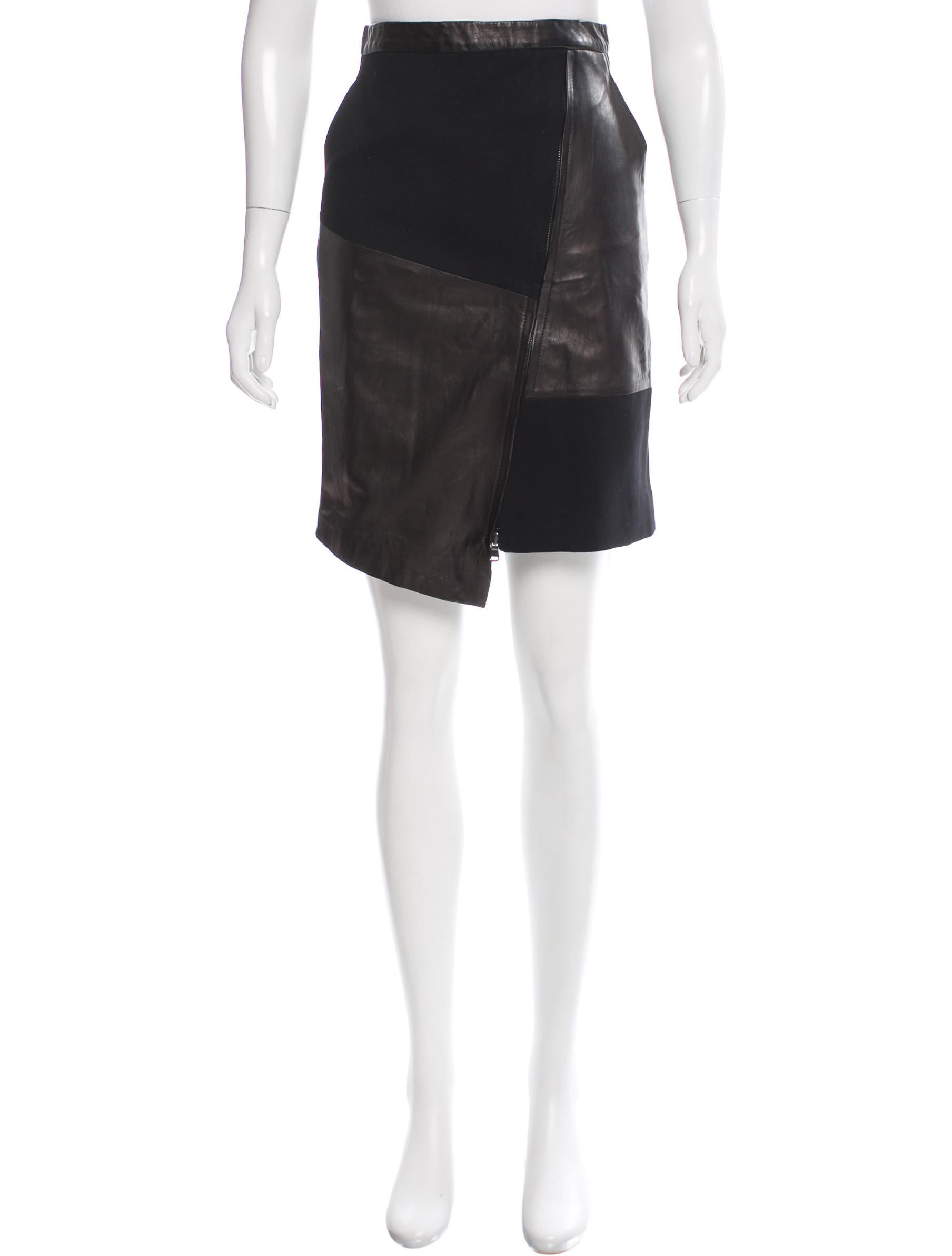 tibi asymmetrical leather skirt w tags clothing