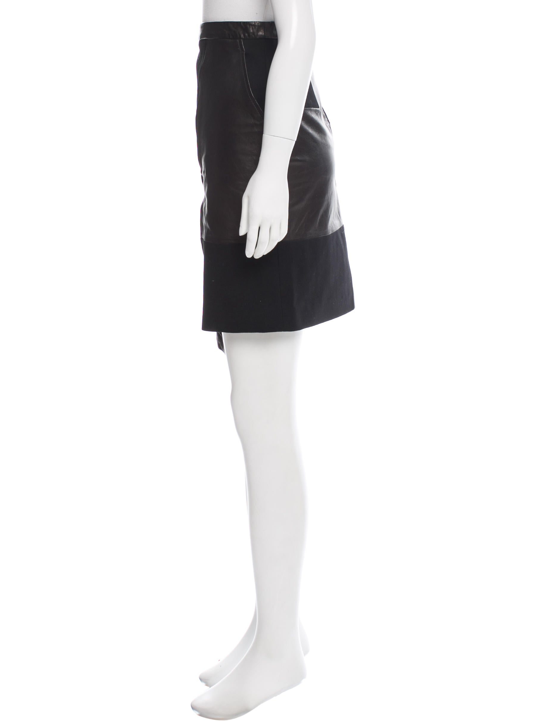 tibi asymmetrical leather skirt w tags clothing
