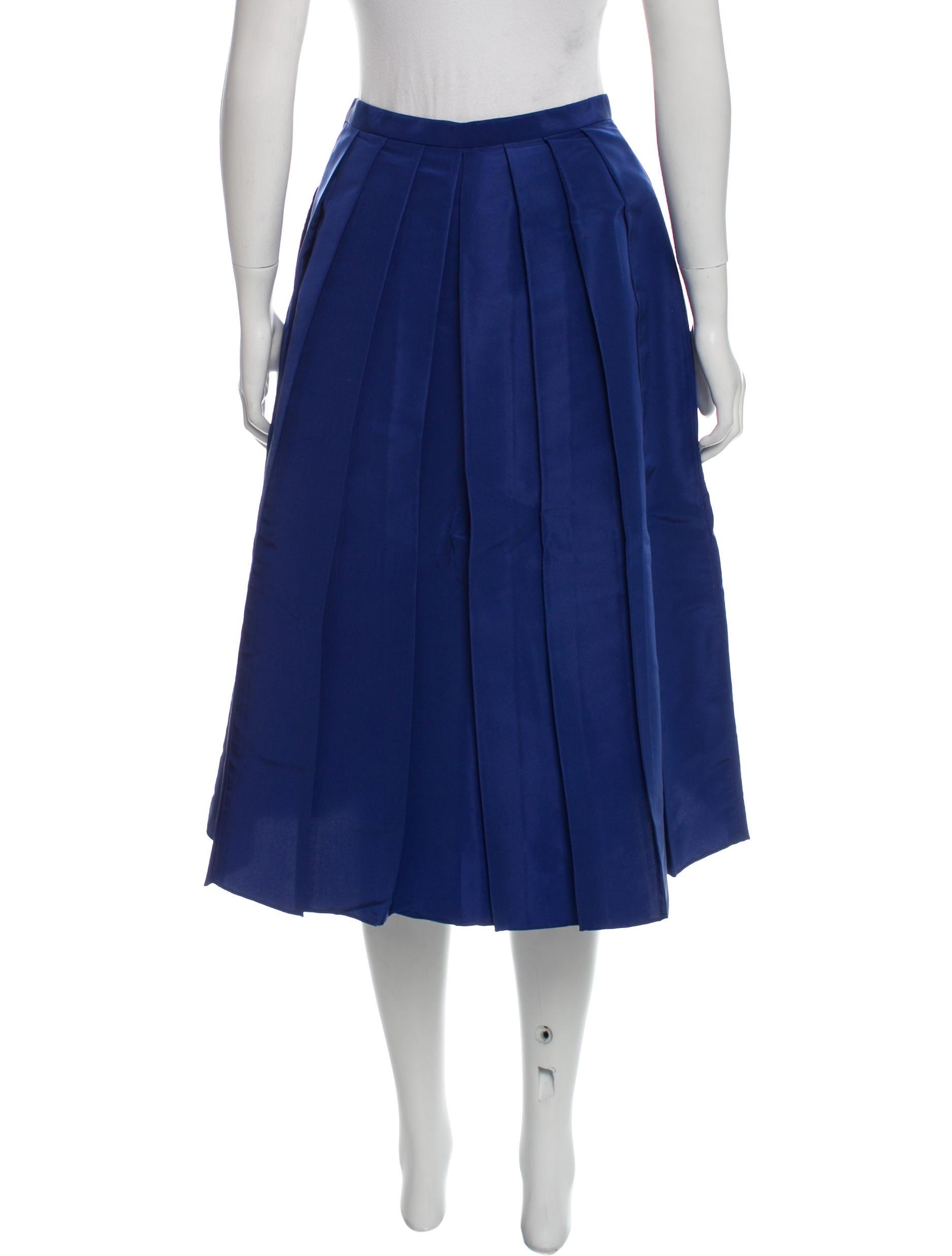 tibi silk midi skirt clothing wti35715 the realreal