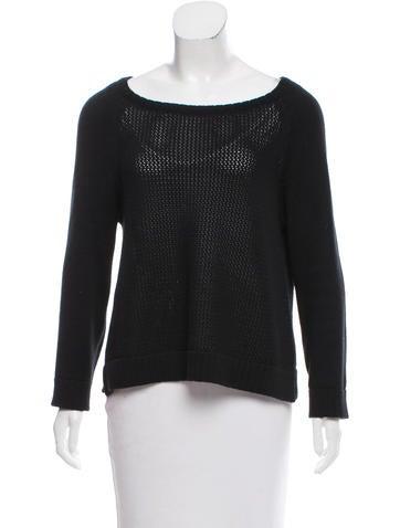 Tibi Open Knit Oversize Sweater None