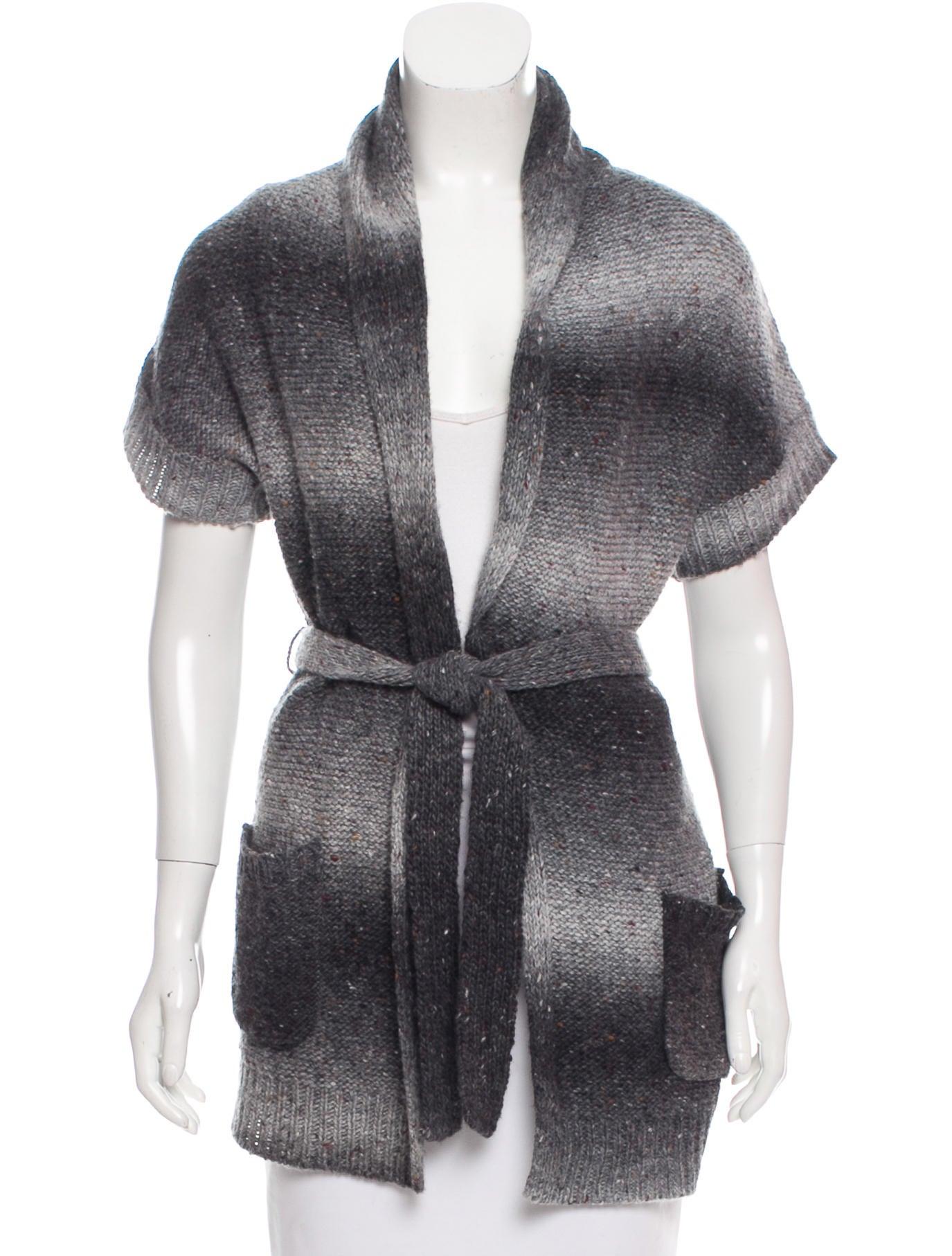 Tibi Short Sleeve Wrap Sweater - Clothing - WTI36300   The RealReal