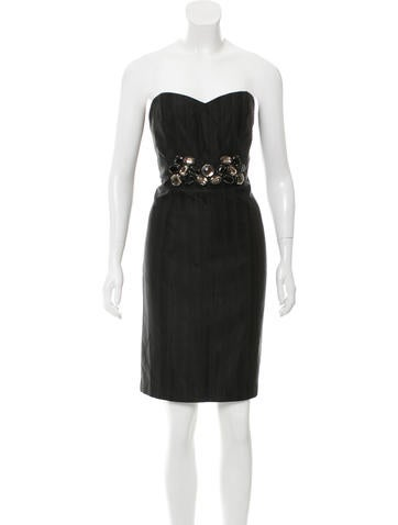 Tibi Embellished Mini Dress None