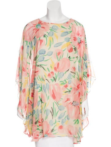 Tibi Silk Printed Tunic None