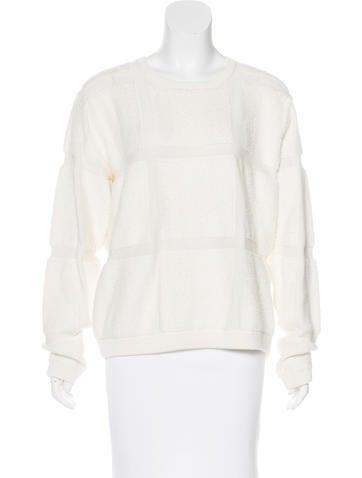 Tibi Textured Knit Sweater None