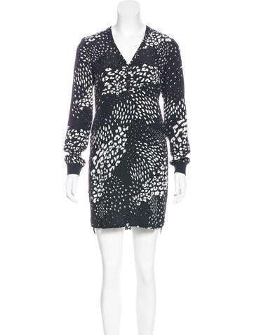 Tibi Silk Printed Dress None