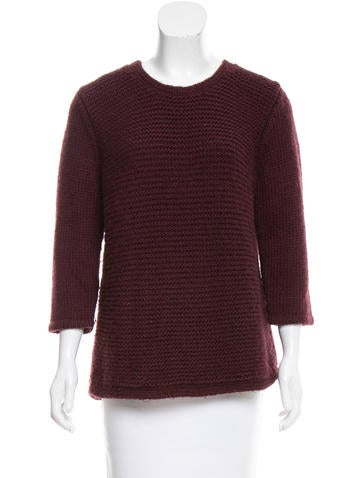 Tibi Rib Knit Sweater None