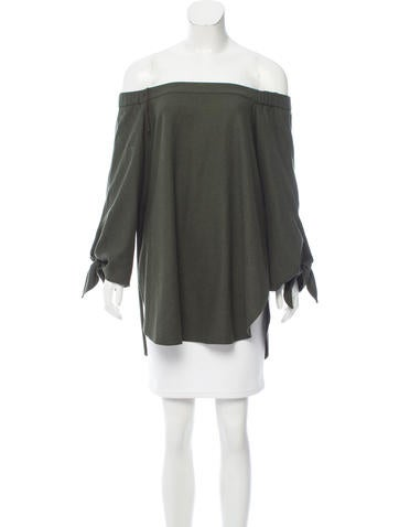 Tibi Off-the-Shoulder Long Sleeve Tunic None