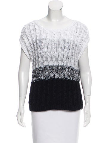 Tibi Sleeveless Colorblock Sweater None