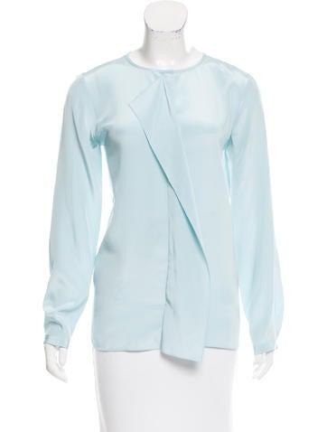Tibi Silk Button-Up Blouse None