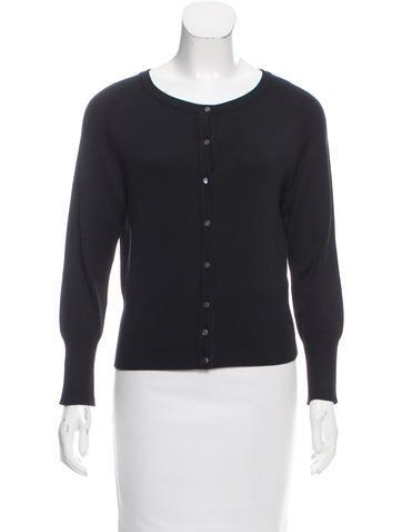 Tibi Button-Up Silk Cardigan None