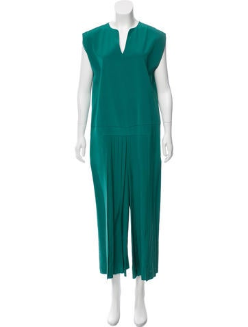 Tibi Pleated Wide-Leg Jumpsuit w/ Tags None