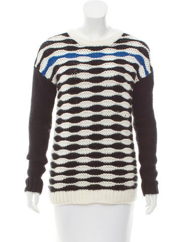 Tibi Lightweight Patterned Sweater None