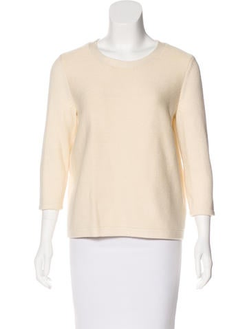 Tibi Knit Crossover Sweater None