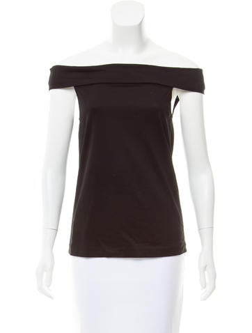 Tibi Sleeveless Off-The-Shoulder Top w/ Tags None