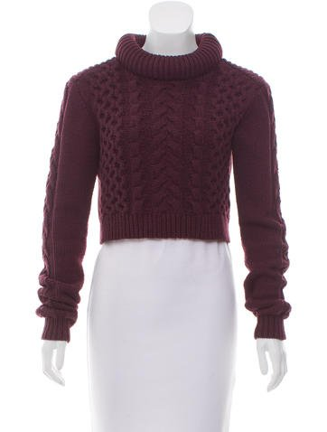 Tibi Long Sleeve Cropped Sweater None