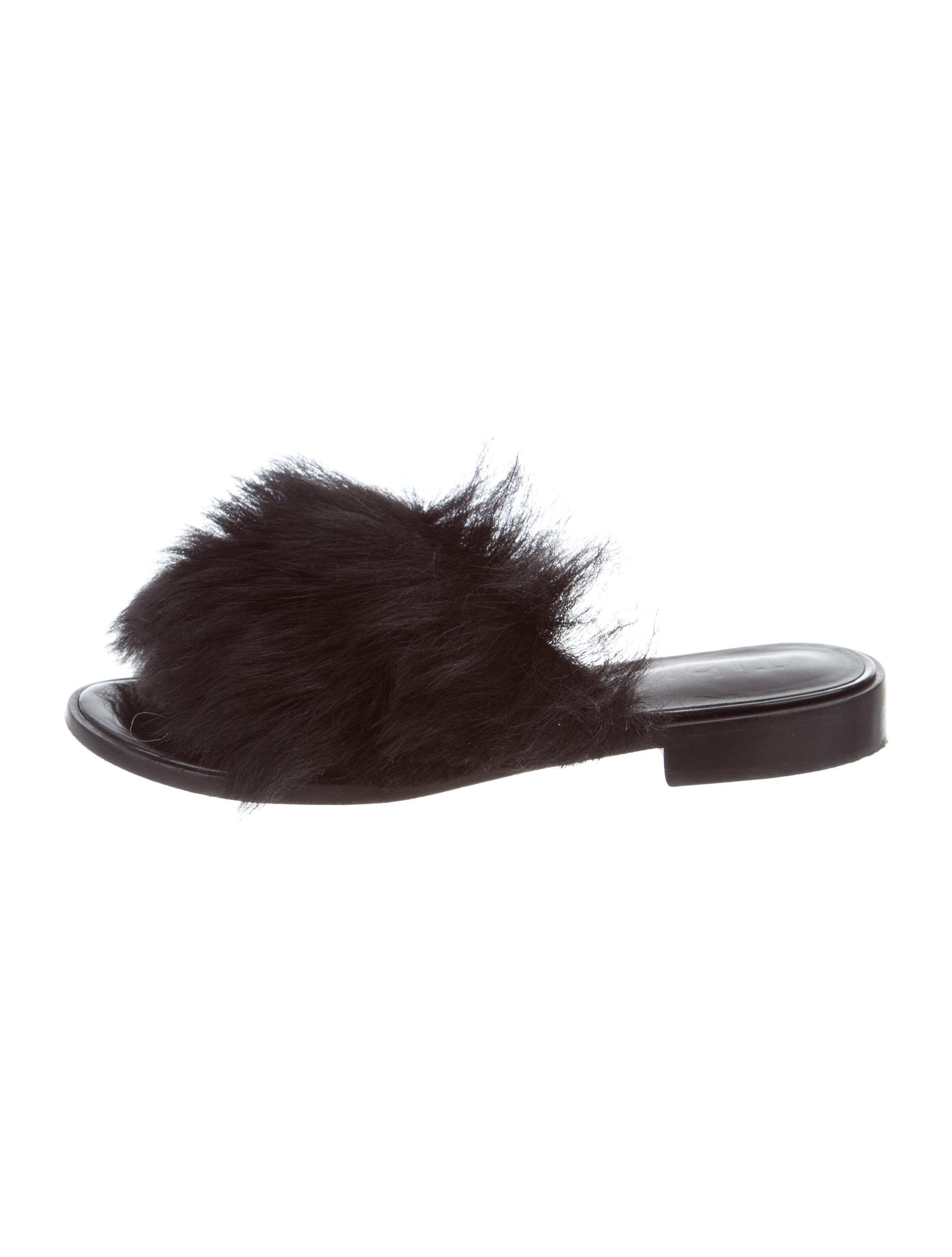 Tibi Shearling Slide Sandals latest for sale buy cheap buy good selling cheap price FUOpL68bJN