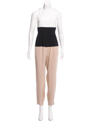 Tibi Silk Colorblock Jumpsuit w/ Tags None