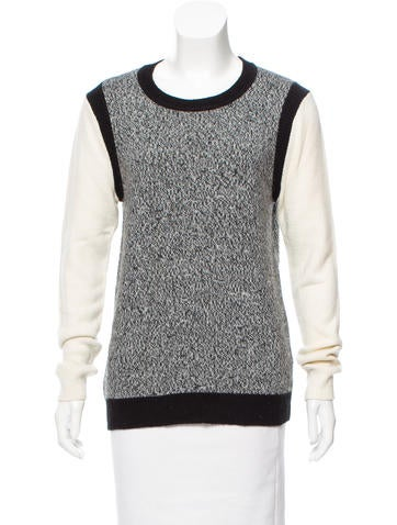 Tibi Mélange Crew Neck Sweater None