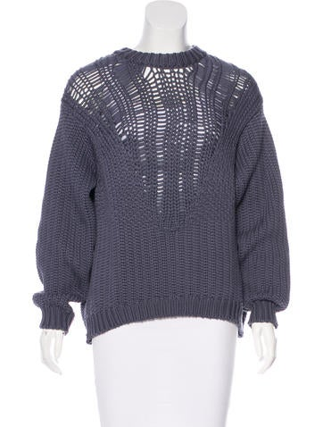 Tibi Long Sleeve Knit Sweater None