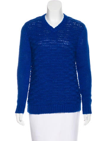 Tibi Wool Blend Open Knit Sweater w/ Tags None