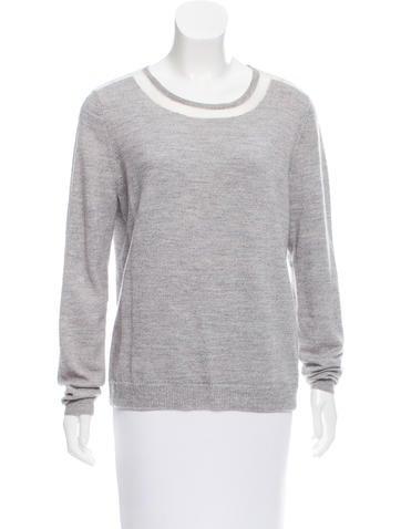 Tibi Wool Scoop Neck Sweater None