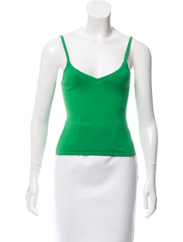 Tibi Ribbed Knit Camisole None