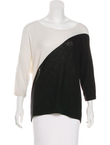 Tibi Colorblock Knit Sweater None