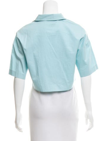 Collared Short Sleeve Top