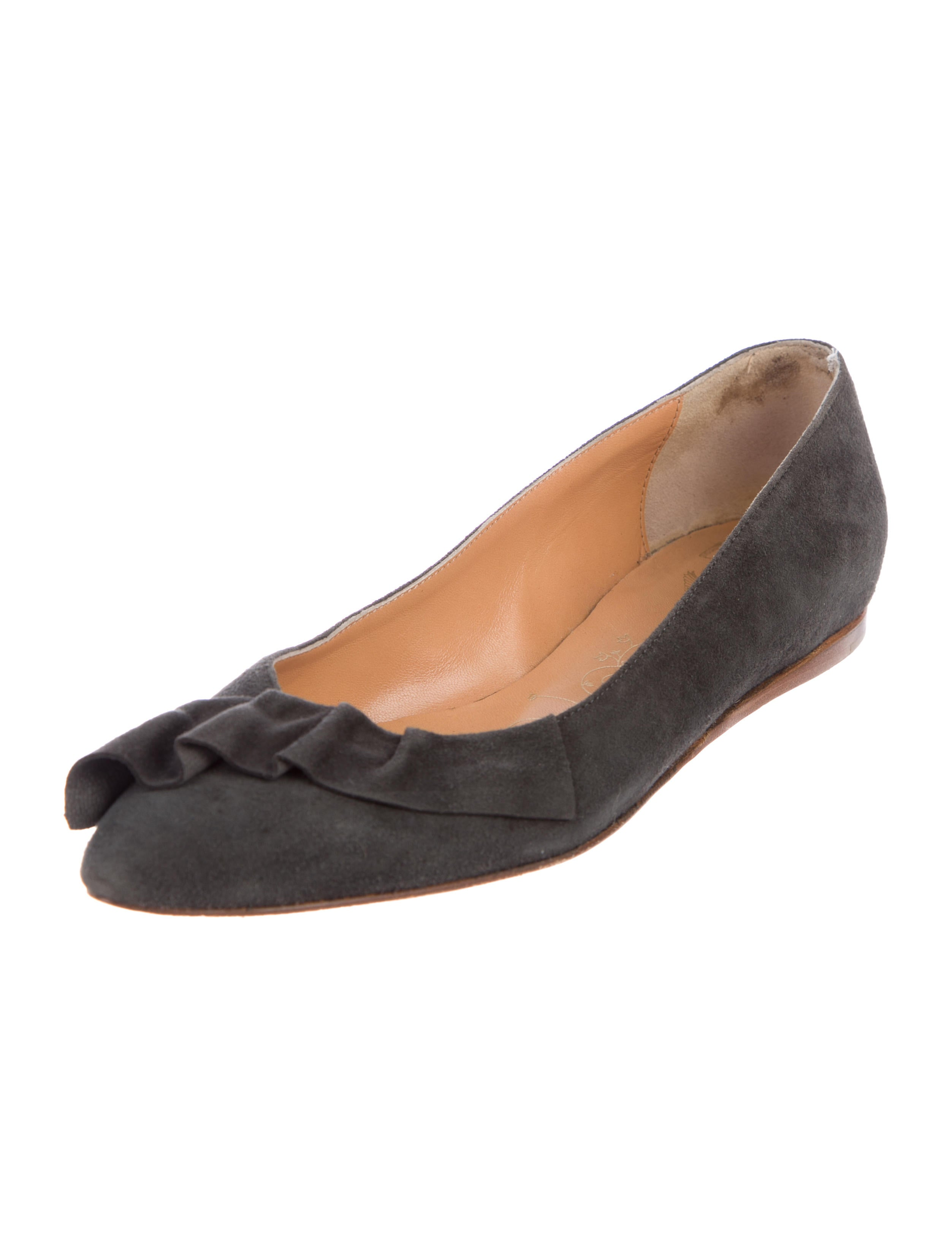 many kinds of cheap price Tibi Suede Ruffle Flats visa payment sale online latest cheap online store with big discount KmLYSXI9cW