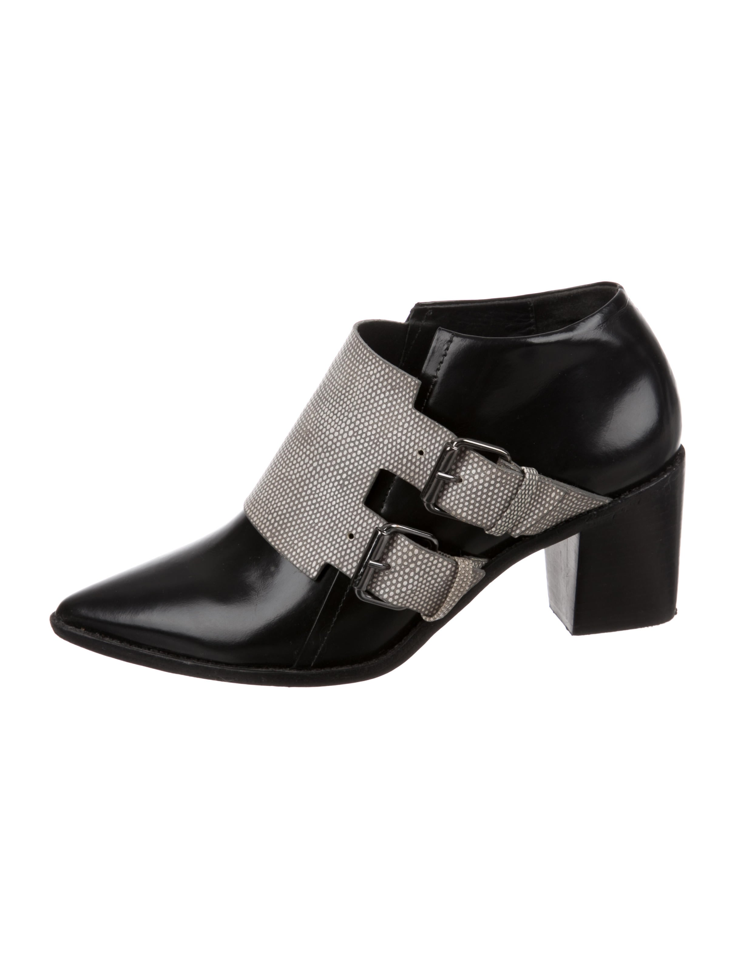 Tibi Embossed Pointed-Toe Booties original cheap price cheap sale lowest price latest collections online cheap sale best sale fashion Style dsAU5SK5sL