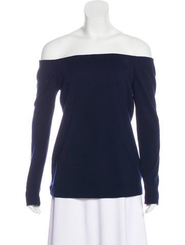 Tibi Off-The-Shoulder Wool Top None