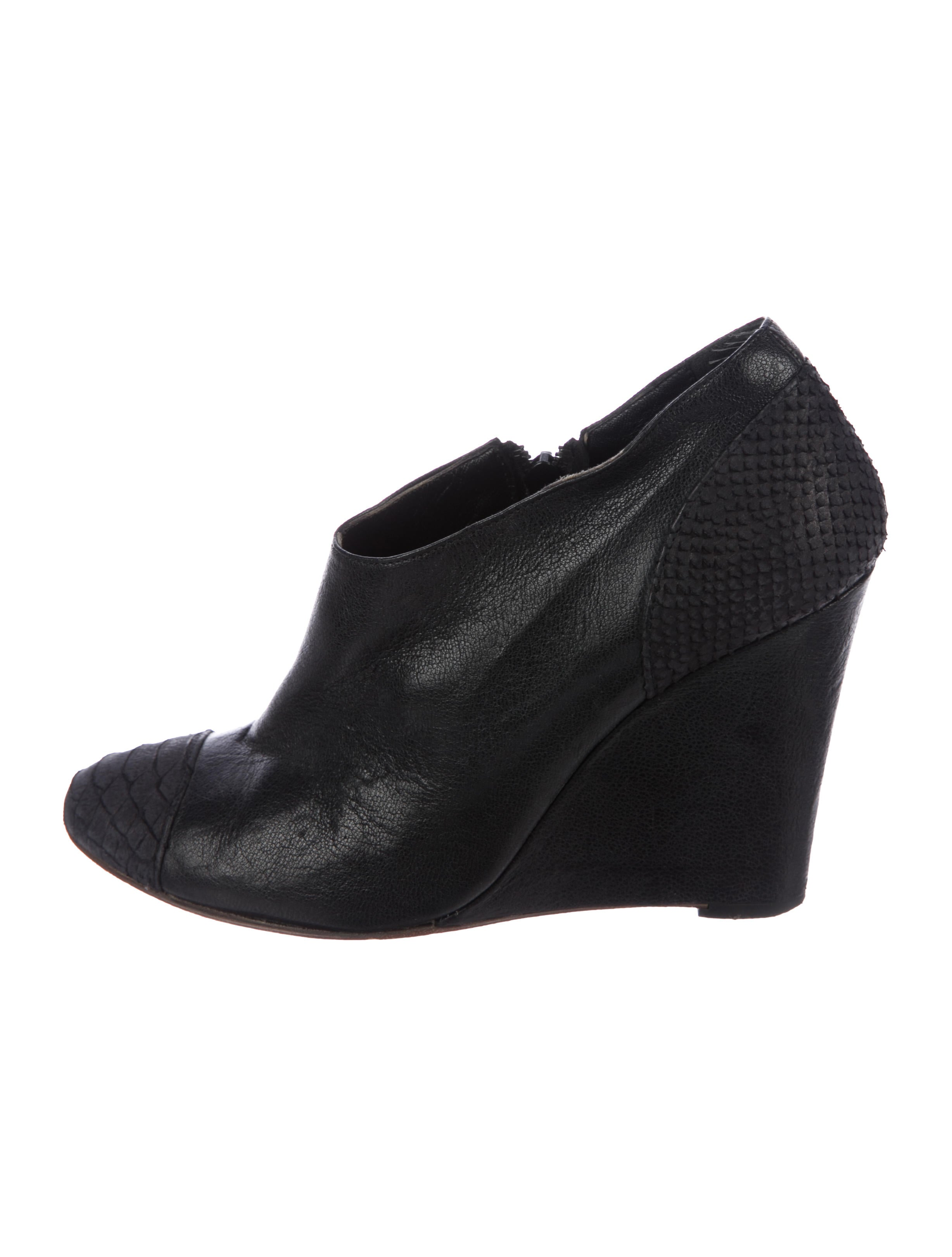 Tibi Cap-Toe Wedge Boots new arrival for sale 1jDIt